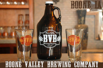 Boone Valley Brewing Company - Growler, Beer Glasses